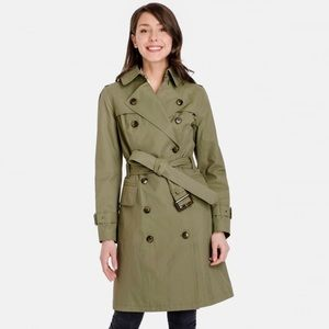 London Fog Heritage Caroline Trench Coat Army